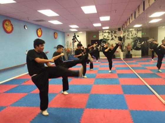 Adult Kung Fu Class High Kick Exercises