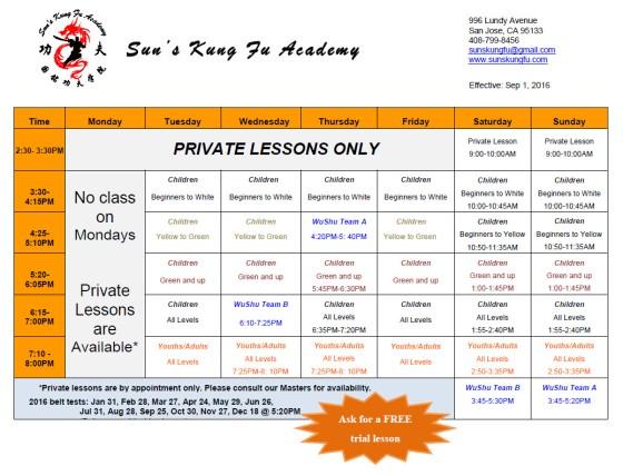 September 1 2016 schedule image